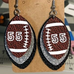 Made To Order Faux Leather Football Earrings